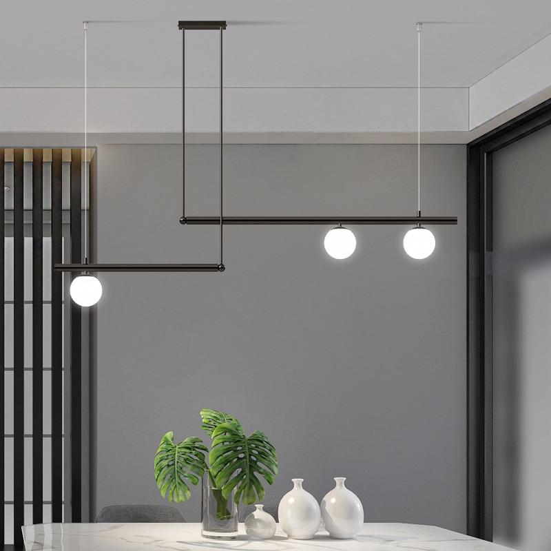 الحديثة بسيطة ماجيك فول LED الذهب/أسود الزخرفية G9 الثريا طاولة بار مطعم بار مقهى غرفة نوم استوديو مصباح معلق