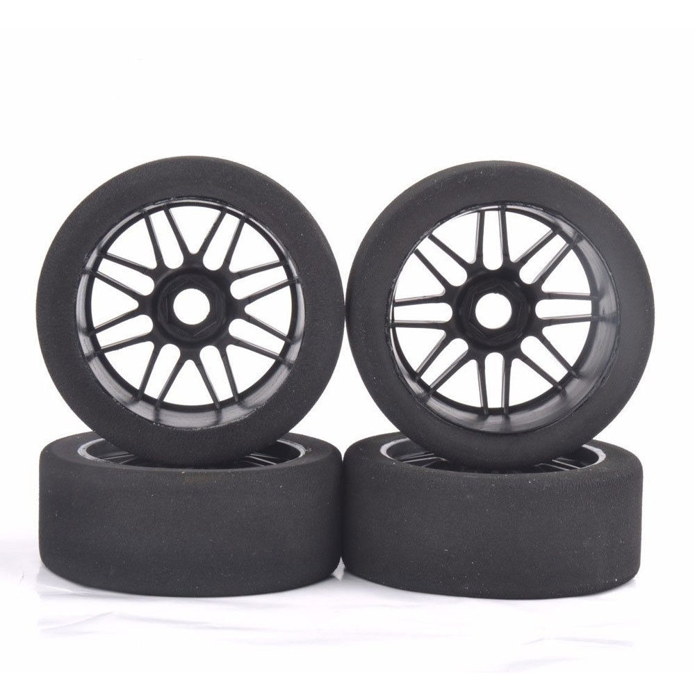 Hot Sale 17mm Hex 1/8 Scale RC Foam Tires Wheel Rims 105mm Set for HSP HPI Racing Car In Stock