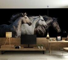 Bacal cheval Photo papier peint autocollants décor à la maison papiers muraux Mural chambre denfants Papel Parede 3D vinyle soie papier peint