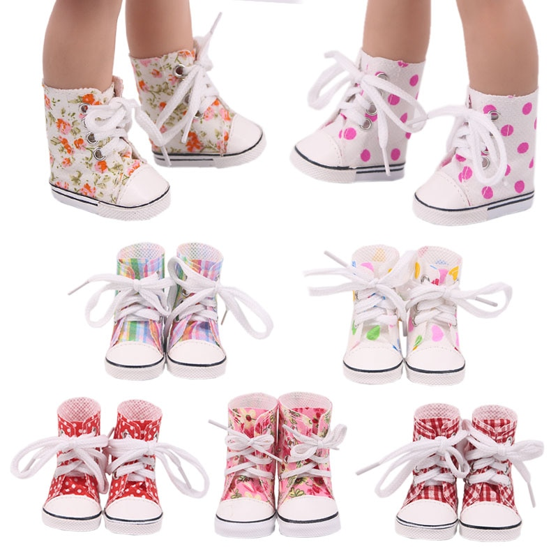 Doll Shoes Clothes 5Cm High-top Canvas Shoes Boots For 14.5 Inch Nancy American Doll&BJD EXO Doll Ou