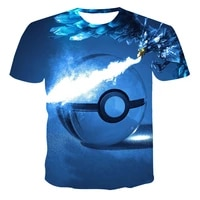 2021 summer new mens t shirt 3d printing japanese popular cartoon anime fashion casual short sleeved shirt