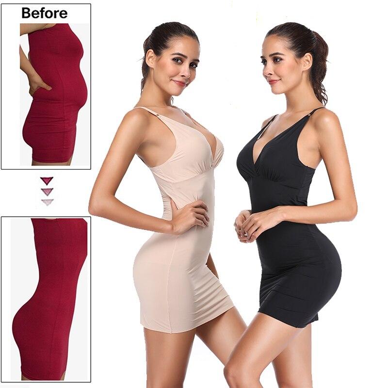 Полная комбинация для женщин под платья для коррекции фигуры всего тела моделирующий пояс для Талии Тренажер для подтяжки ягодиц контроль пуш-ап Корректирующее белье