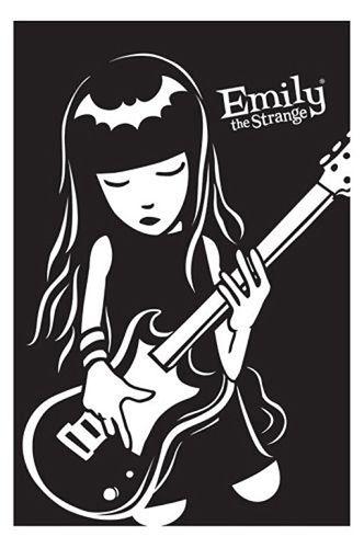 Cartel de pintura decorativa de seda con guitarra bajo de EMILY THE STRANGE 24X36INCH