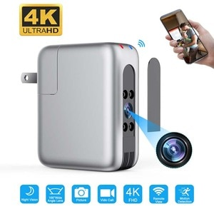 Smart Home Baby Monitor CCTV WiFi Camera Plug USB Charger 166 Wide Lens 4K FHD Camcorder Night Vision Security Video Recorder
