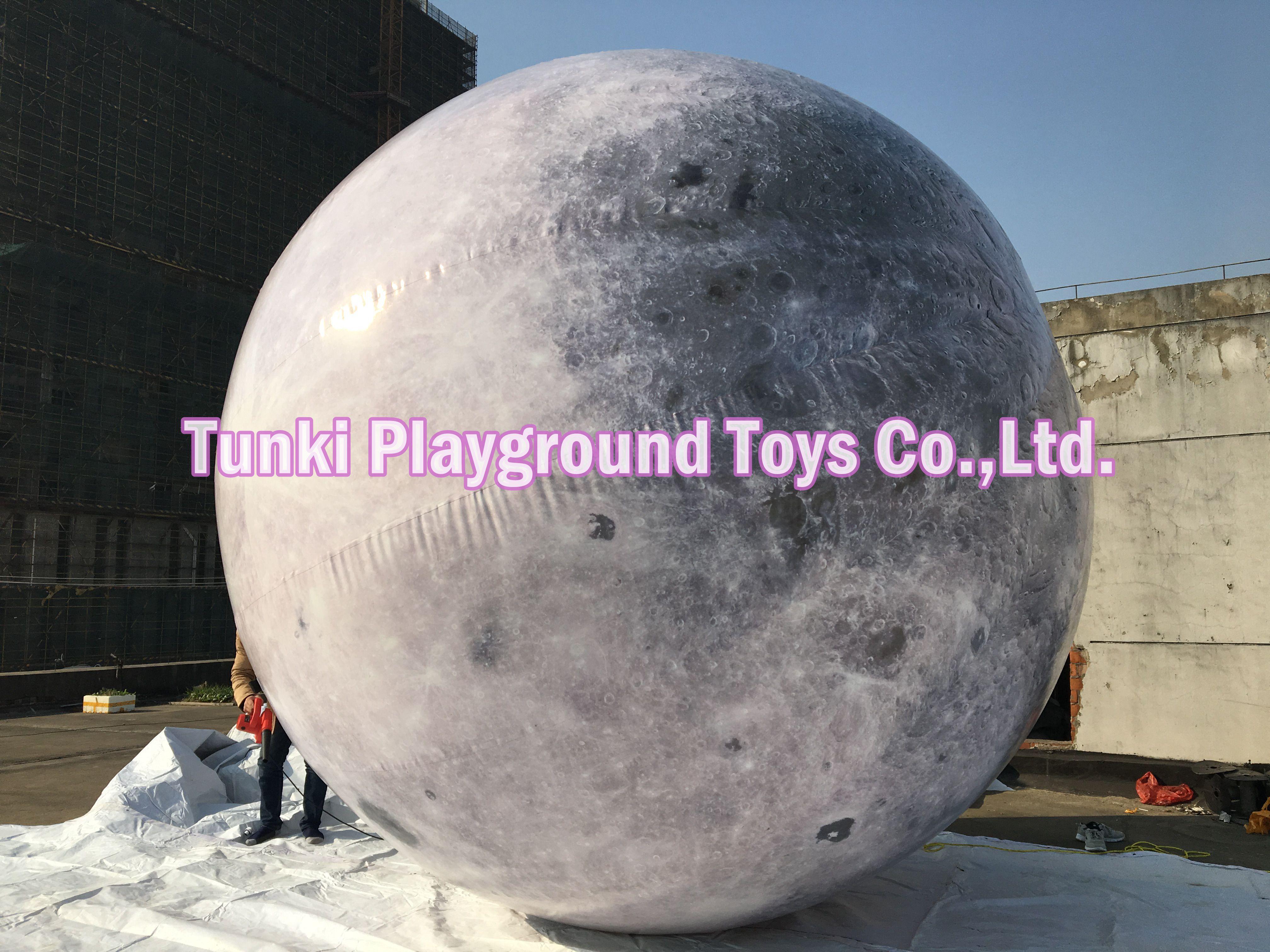 Outdoor riesigen Aufblasbaren globus ball mond bälle