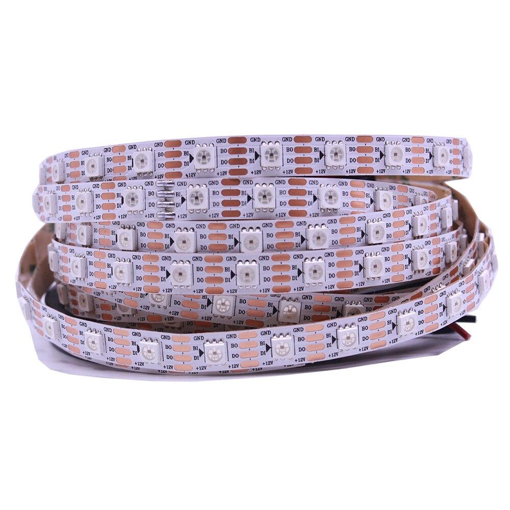 Ws2815 dc12v ws2812b ws2813 led strip licht rgb individueel adresseerbare led verlichting duplo signaal 1m 5m 30 60 144 leds ip20