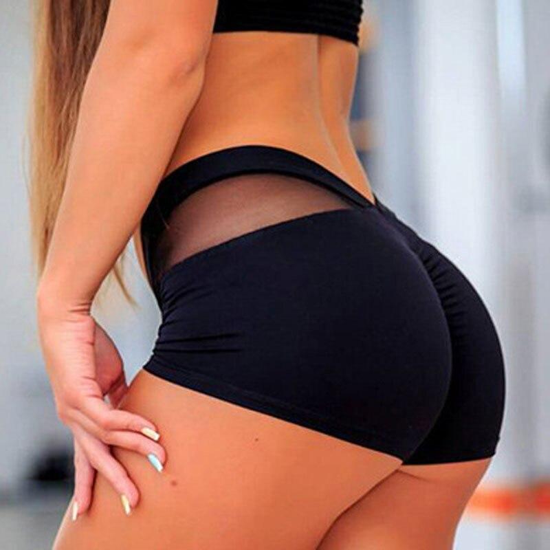 Ogilvy Mather, pantalones cortos deportivos para mujer, pantalones ajustados con cintura elástica para gimnasio, pantalones cortos ajustados con costura de red 2020