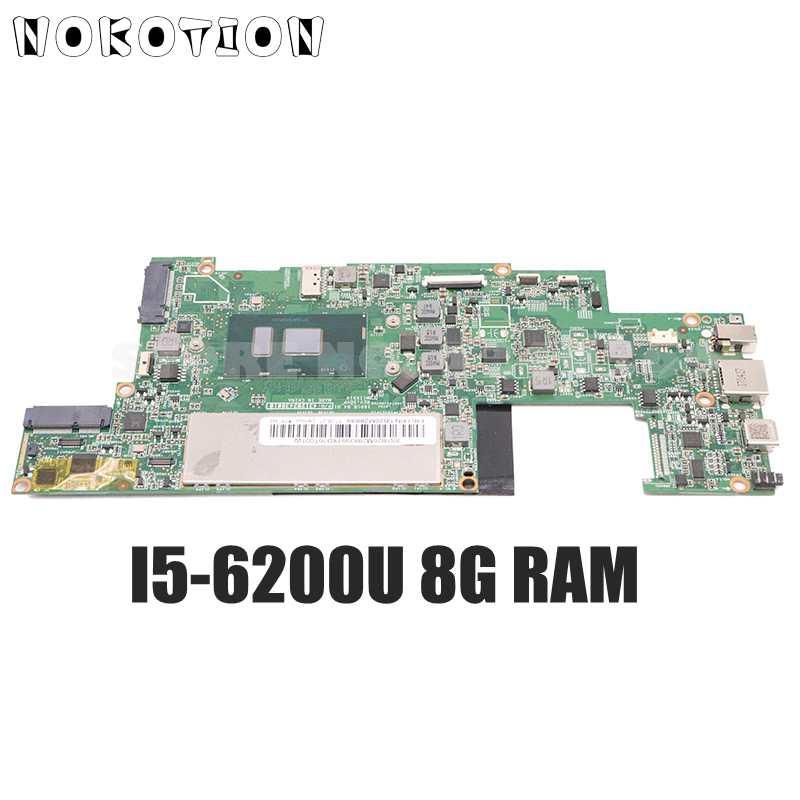 NOKOTION لينوفو MIIX510 MIIX 510-12ISK اللوحة الأم للكمبيوتر المحمول P/N:431202438010 5B20M28839 I5-6200U وحدة المعالجة المركزية 8G RAM