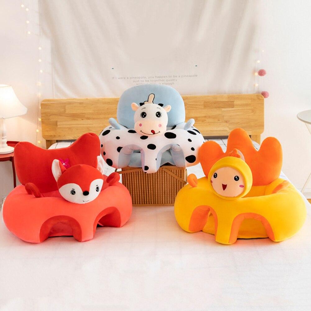 Sofá suporte de viagem cadeira macia sem enchimento bebê sofá suporte assento cobre bebê cadeira de pelúcia dos desenhos animados assentos do bebê