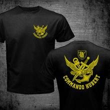 2020 été français Forces spéciales Marine Combat nageur Frogmen Commando Hubert Marine T-Shirt Double face t-shirts