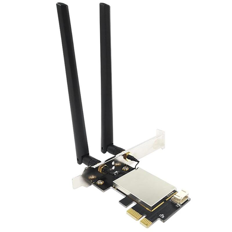 PCIE-Adaptador de tarjeta WiFi con Bluetooth, Repetidor de tarjeta de red inalámbrica...