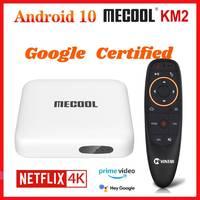 ТВ-приставка Mecool KM2 Netflix 4K Android 10 Google Сертифицированный медиаплеер Android 10,0 A TV BT 2T2R Dual Wifi Dolby аудио Prime видео