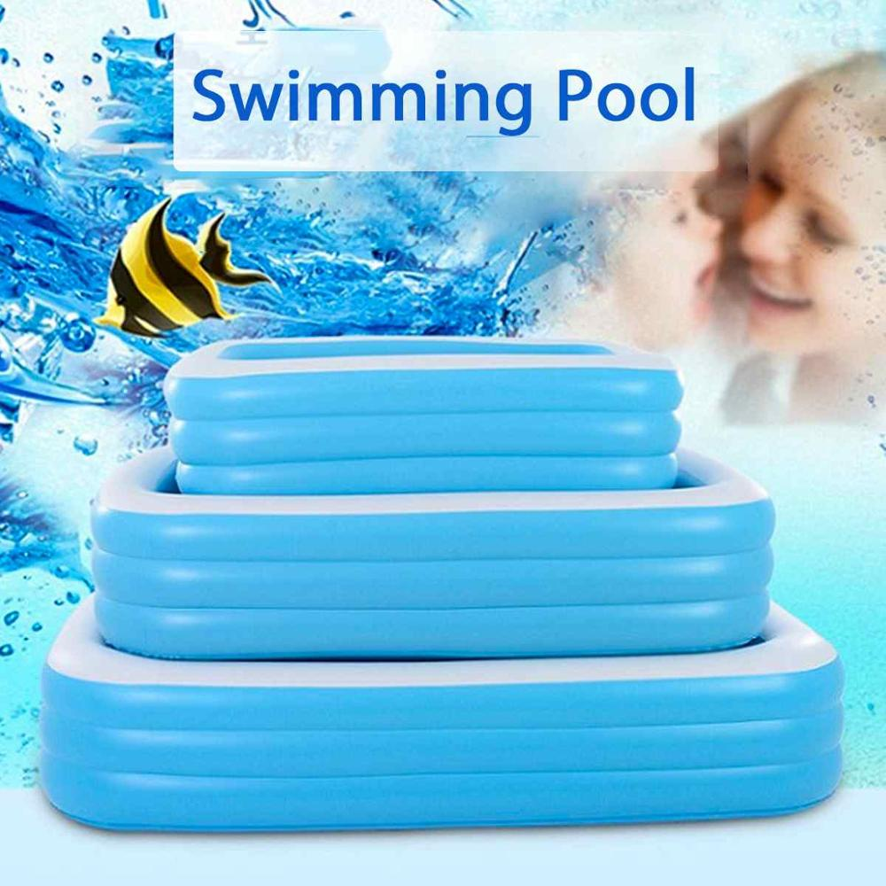 3M Large pools for family Inflatable Square Swimming pool infant alberca Removable Above ground pool for Children Kid Cottages