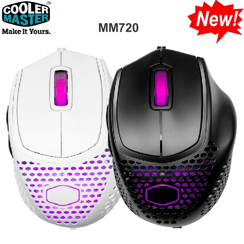 Get Cooler Master MM720 Computer Wired Gaming Mouse Mice 16000DPI Optical Sensor PMW3389 For Laptop PC Gamer Original New Design