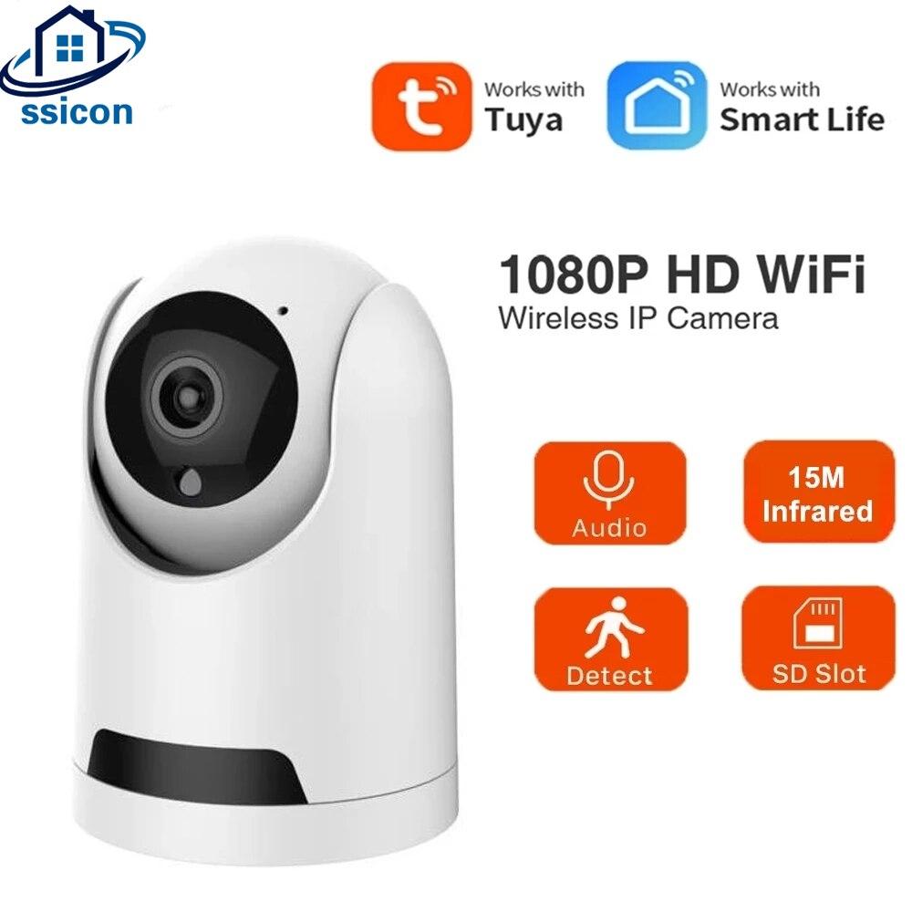HD 1080P IP-камера Tuya Smartlife, приложение, двухстороннее аудио, безопасность, Wi-Fi, беспроводная мини-камера видеонаблюдения для помещений, домашняя ...