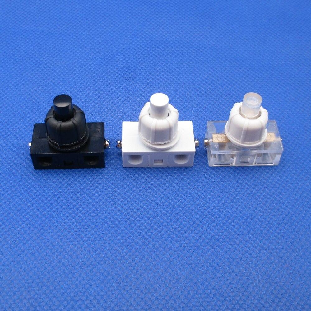 Acessórios elétricos lâmpada com porca, micro-movimento interruptor pequeno auto-travamento botão interruptor parafuso montagem