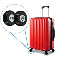 2 pièces/ensemble 45x18mm voyage bagages valise roues essieux kit de réparation remplacement bagages roues avec vis