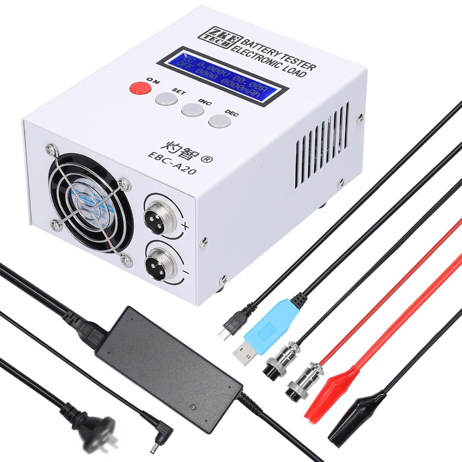 EBC-A20 جهاز اختبار بطارية 30 فولت 20A 85 واط بطارية ليثيوم الرصاص الحمضية اختبار قدرة 5A شحن 20A التفريغ دعم البرمجيات التحكم