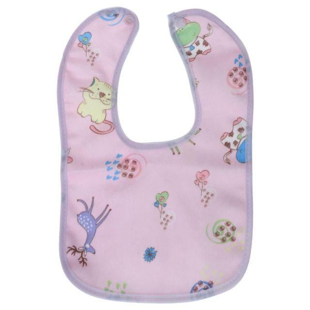 1PC Baby Bib Waterproof Cartoon Cute Buckle Bandana Burp Saliva Towel Boys Girls Feeding Apron Bib Infant Children Supplies 4