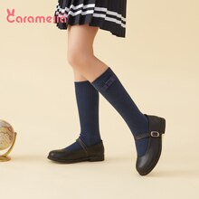Caramella Baby Student Baby Children Girls' Cotton Spring and Autumn Four Seasons Knee-Length Long T