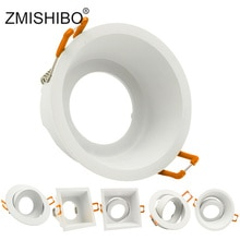 ZMISHIBO LED Downlight 75mm 90mm Cut Hole Recessed Ceiling Spot Lamp Fitting Frame Bulb Replaceable MR16 GU5.3/GU10/E27 Sockets