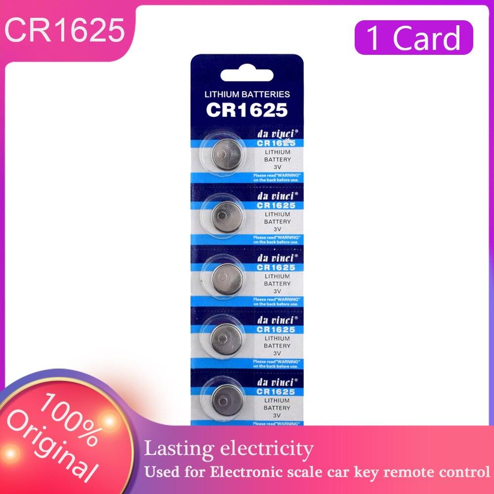 2021 promoción nuevo 5 unids/pack CR1625 células monedas CR1625 Pilas botón reloj...