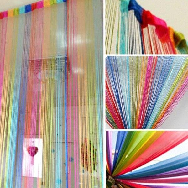 2 м * 1 м Vogue Горячая занавеска для двери, оконная Панель перегородка для гостиной, занавеска, линия, декоративная занавеска, 6 видов цветов