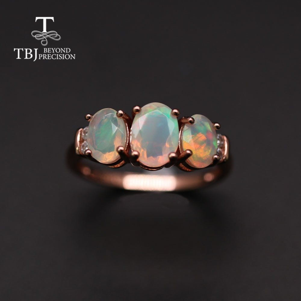 TBJ Natural Opal ring earrings jewelry set temperament fashionable women anniversary party wear high jewelry