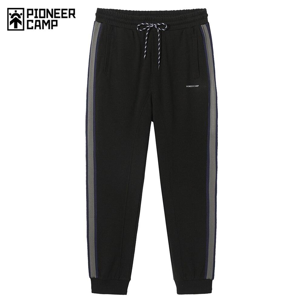 بايونير كامب خريفي جديد ، بنطال رياضي رجالي مخطط ، ملابس خروج رجالية سوداء ، ملابس رجالية 2020 AZS005034