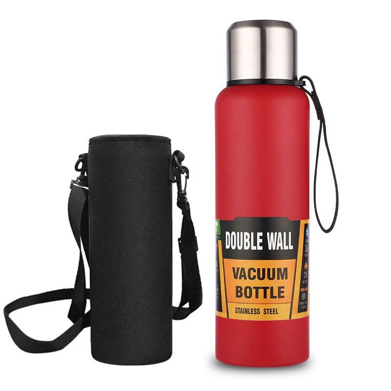 مزدوج الجدار معزول زجاجة ماء ث/2 الأغطية-304 مياه الفولاذ غير القابل للصدأ زجاجة بفم واسع أفضل هدية لعيد الميلاد