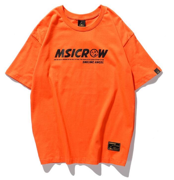 ¡Novedad de primavera-verano 2020! Camiseta de manga corta para hombre, Camiseta holgada con estampado de sonrisa de marca moderna original de estilo europeo y americano, camiseta mal