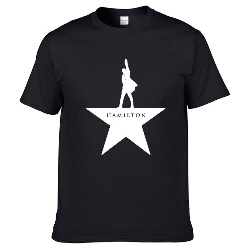 Camiseta Hamilton Classic de verano-Camiseta de manga corta de algodón con cuello redondo de 100% de Broadway con estampado de música para hombre de gran calidad #100