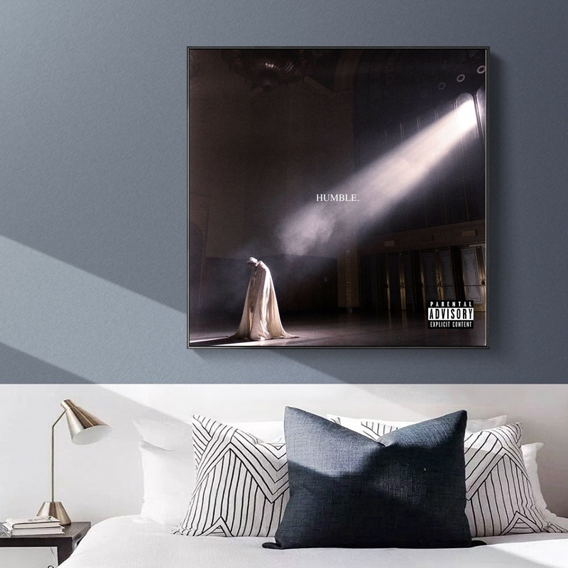 Póster de seda con imagen de pared para sala de estar de Kendrick Lamar Humble Dropshipping