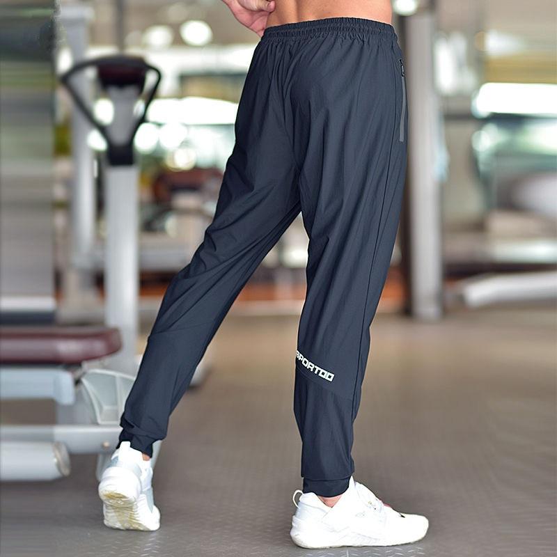 الرجال تشغيل السراويل كرة القدم سروال التدريب مع سستة جيوب بنطال كرة قدم الركض اللياقة البدنية سراويل رياضية تجريب بنطلون رياضي