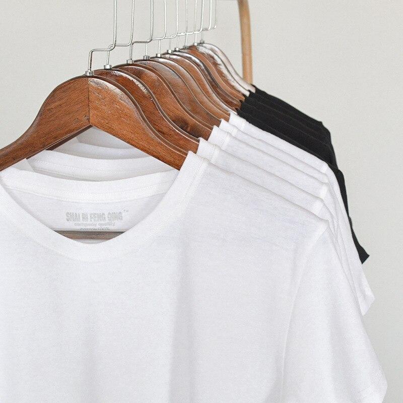 فارغة بلون القطن تي شيرت الرجال الياقة المستديرة قميص قصير الأكمام في الصيف