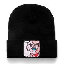 Dragon Ball Z MAJIN BUU Beanie Hohe Qualität Baumwolle Casual Mützen für Männer Frauen Warm Gestrickte Winter Hut Fashion Solid unisex Kappe