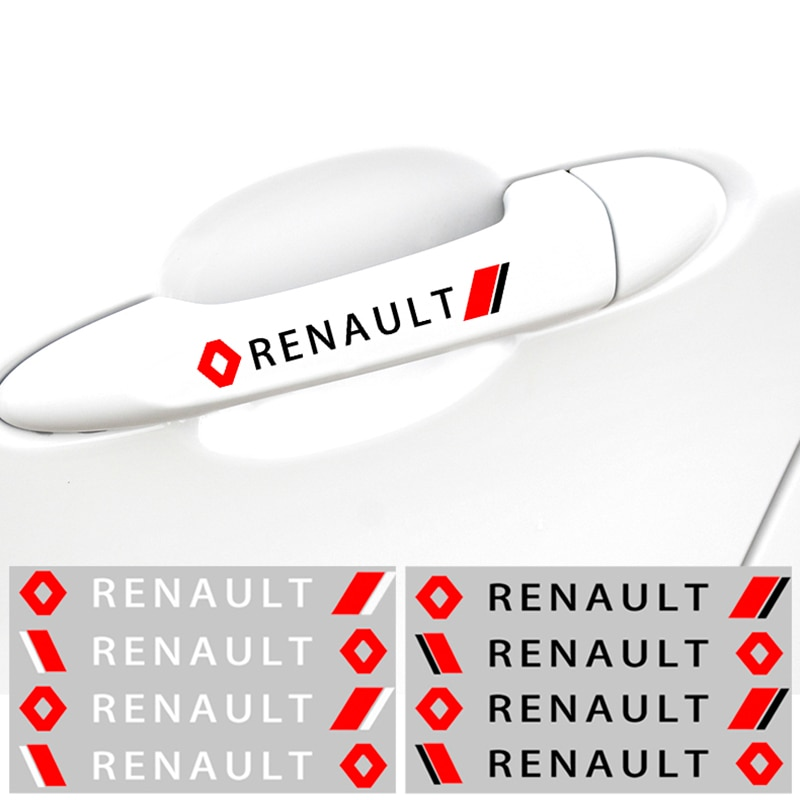 Adesivo decorativo para renault megane 2 3, adesivo duster logan, 4 peças, para porta de carro laguna 2 capturas
