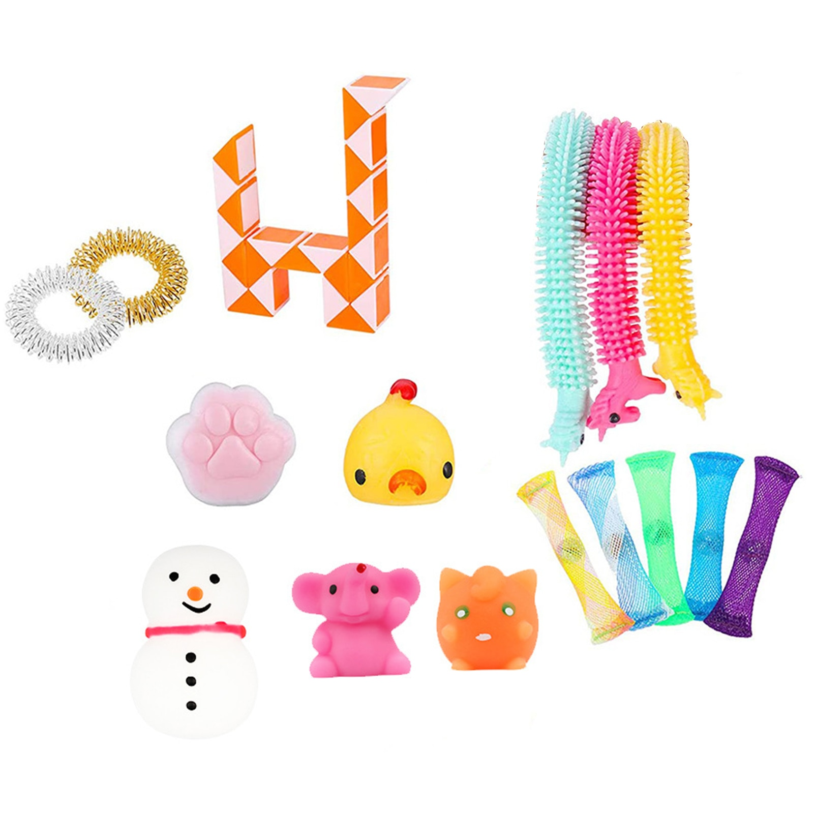 Stress Relief Hand Toys Sensory Squeeze Toy Set For Kids Adults Made Of Food Grade Silica Gel And ABS enlarge