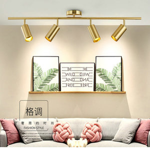 Nordic golden Ceiling light Creative  clothing store lamp 360 ° whirling GU10 7W AC220V  LED light fixture  lustre