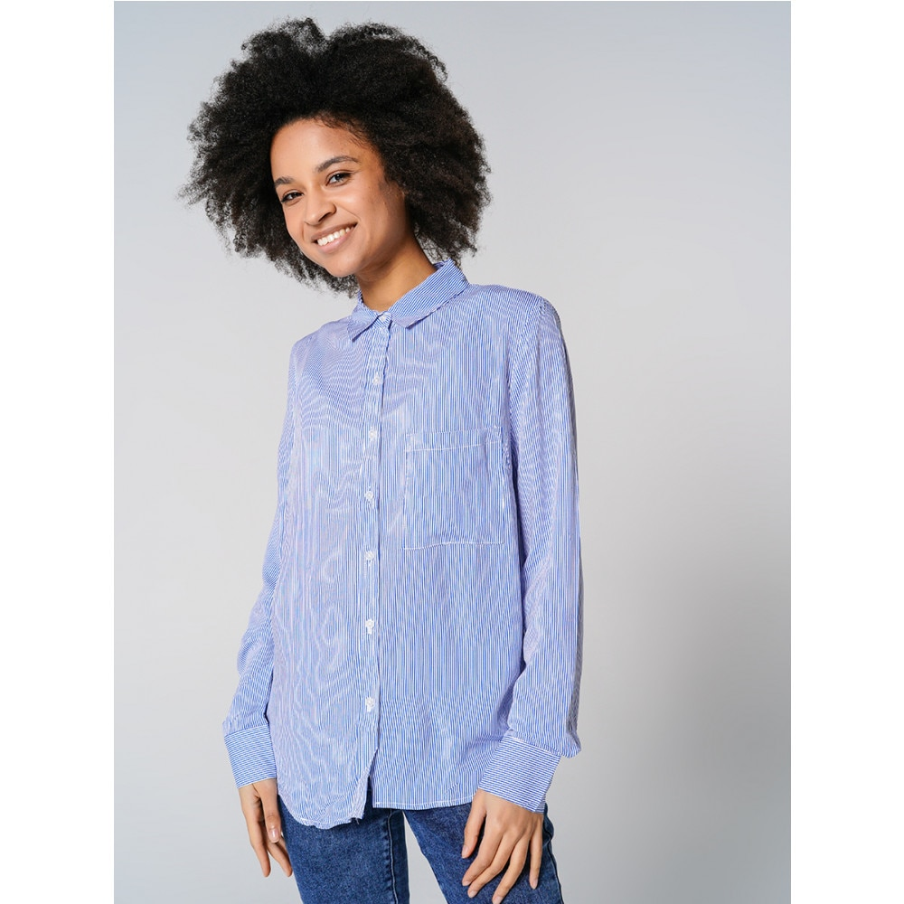 Блузка ТВОЕ женская синяя FASHION