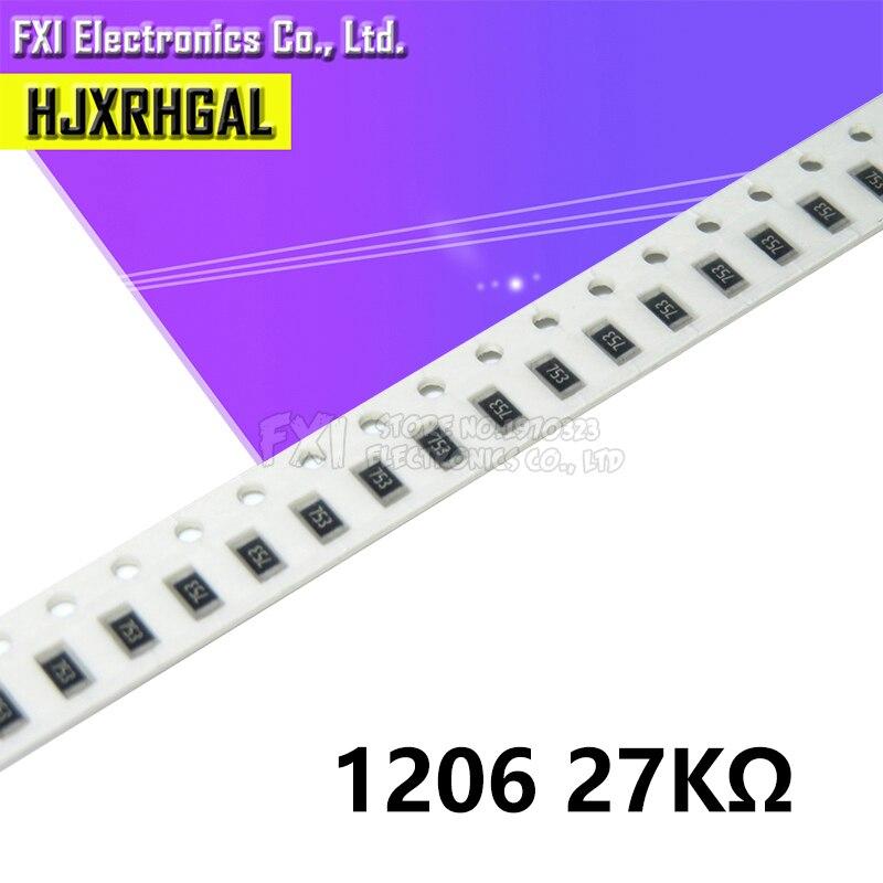 100PCS 1206 SMD Weerstand 27K ohm chip weerstand 0.25W 1/4W 273 nieuwe originele