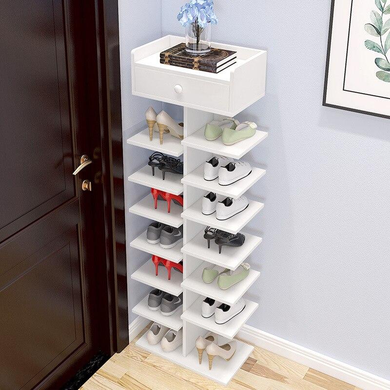 متعدد الطبقات الأحذية الرف رفوف المنزلية خشب متين وحدة تخزين الأحذية خزانة الباب الرف دولاب أثاث الفضاء إنقاذ المنظم