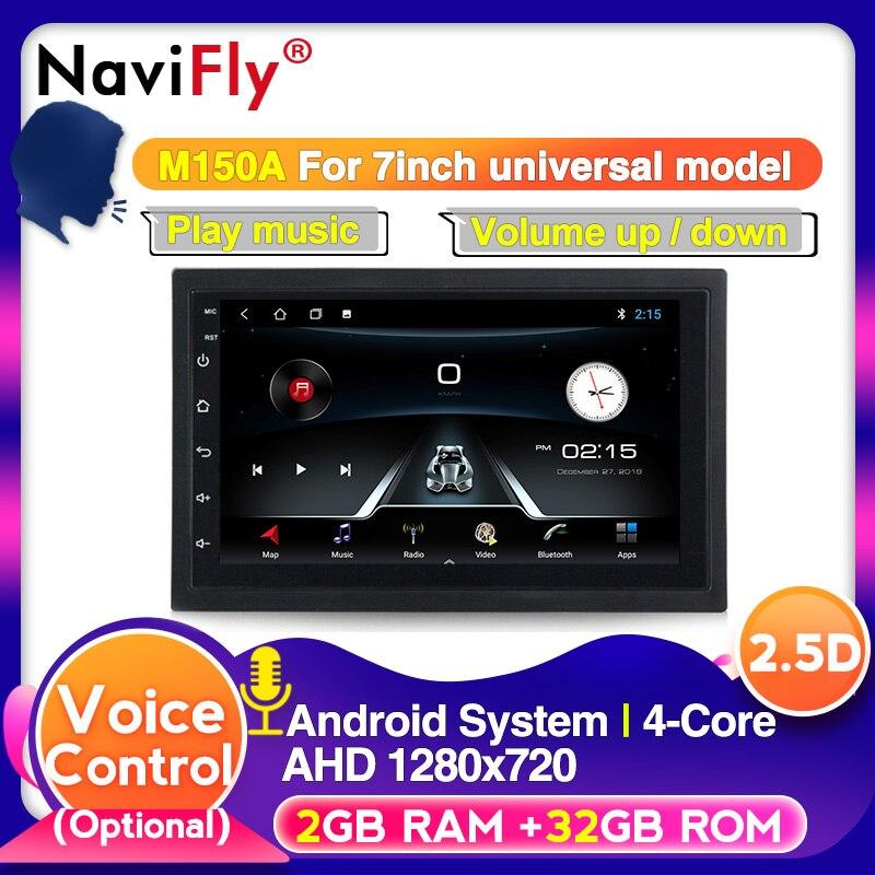 European warehouse voice control 2Din Universal Android 9 For Nissan Toyota VW Hyundai Car Radio Multimedia player
