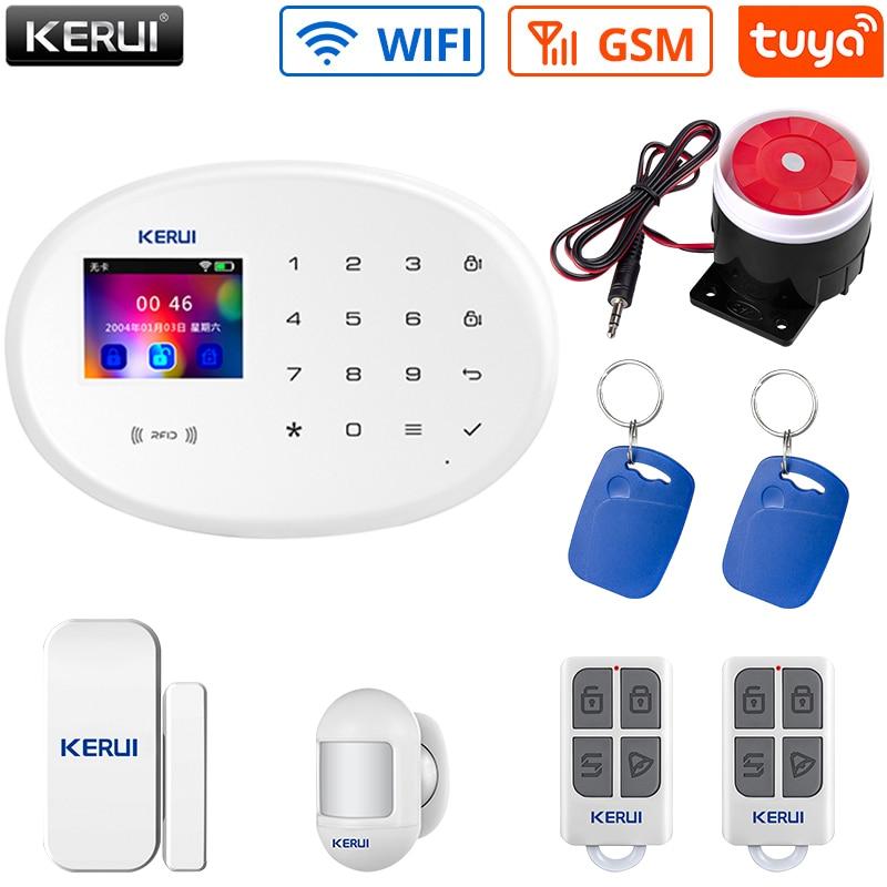 KERUI домашняя система охранной сигнализации оборудование 433 МГц Беспроводной Частота GSM WI-FI соединение переключать меню Язык приложение Упра...