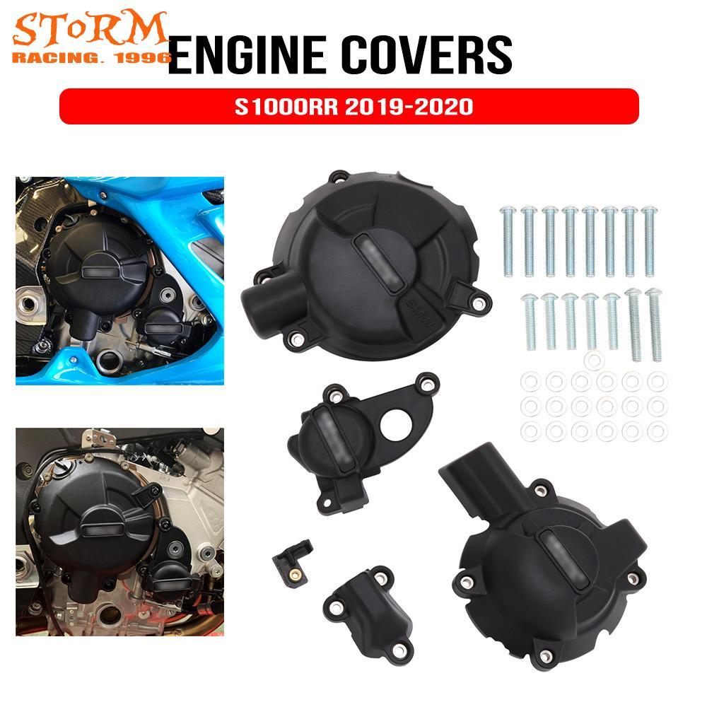 حافظة لحماية غطاء المحرك للدراجات النارية لسباقات GB لـ BMW S1000RR 2019-2020 S1000R أغطية المحرك حماة