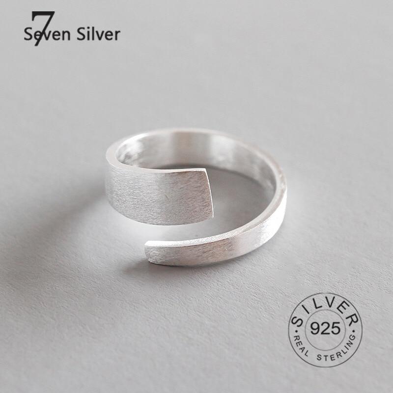 Настоящие искусственные серебряные кольца для женщин, модные изящные ювелирные изделия, большие Регулируемые Антикварные кольца, кольца