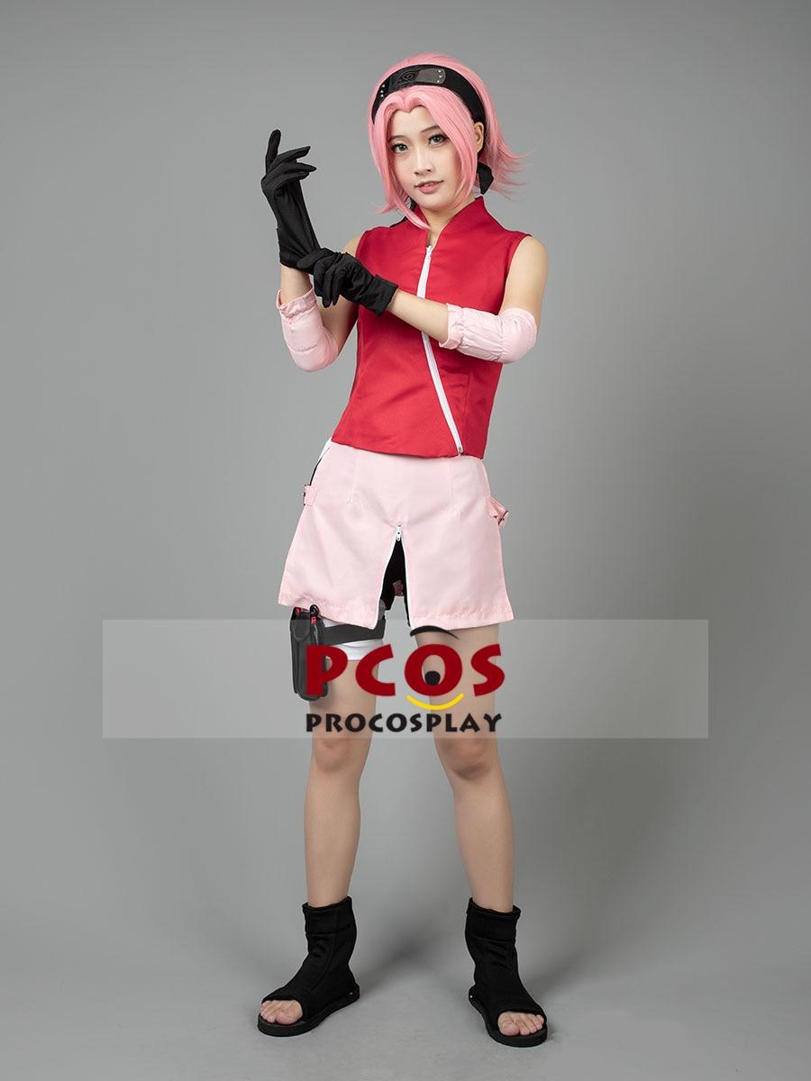 Procosplay Sakura Haruno Cosplay costume Naruto Shippuden Costume free shipping and high quality costume 000132