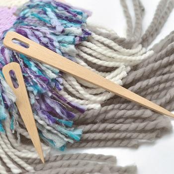 5pcs Wood Crochet Hook Set DIY Knitting Needles Handle Home Knitting Weave Yarn Crafts Household Knitting Tools