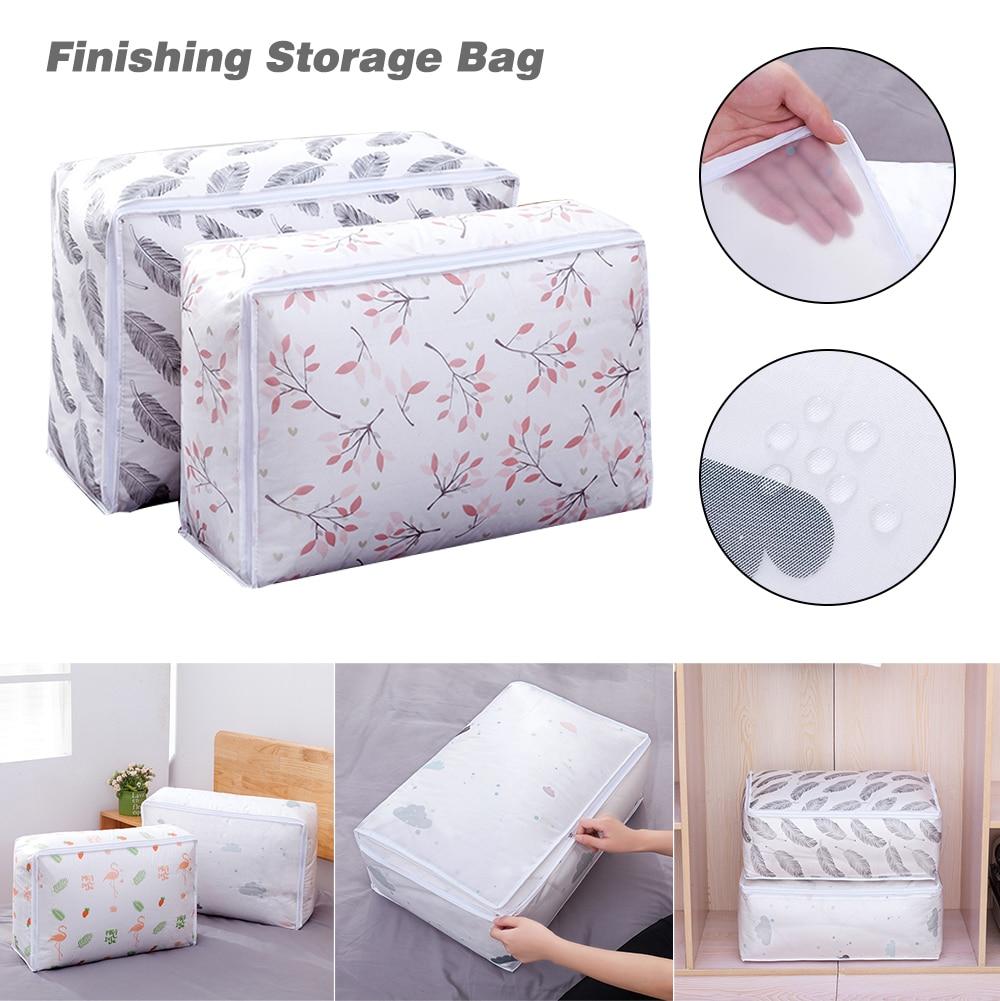 المطبوعة لحاف السفر حقيبة التخزين صندوق تخزين منزلي الملابس لا رائحة الأجنبية قابل للغسل مقاوم للماء مكافحة الغبار حقيبة N1N007B12