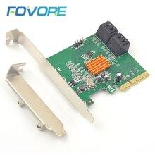 PCIe SATA Adapter PCIe zu 4 port SATA 3 Adapter expansion RAID Karte stecker SATA3 PCIe x4 PCI express Converter marvell